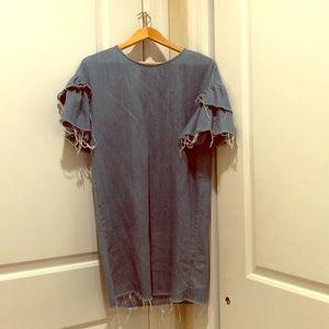 Jean Fringed Dress